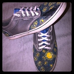 One of a Kind Van Gogh Vans!